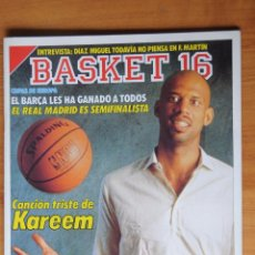 Coleccionismo deportivo: REVISTA BASKET 16 Nº 70. 5 DE FEBRERO 1989. PORTADA KAREEM ABDUL JABBAR. Lote 61755308