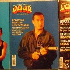 Coleccionismo deportivo: STEVEN SEAGAL - CINCO REVISTAS DE ARTES MARCIALES ''DOJO''. Lote 61782132