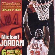 Coleccionismo deportivo: MICHAEL JORDAN - REVISTA ''AMERICAN BASKET'' (1998) - SEXTO ANILLO - NBA. Lote 61782140