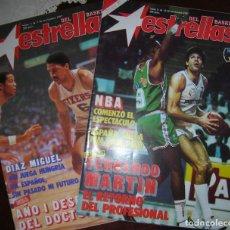 Coleccionismo deportivo: TRES REVISTAS ESTRELLAS DEL BASKET - NÚMEROS 4, 6 Y 12. AÑO 1987. Lote 62933540