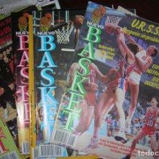 CINCO REVISTAS NUEVO BASKET BALONCESTO - AÑOS 1985, 1986 Y 1987, VINTAGE