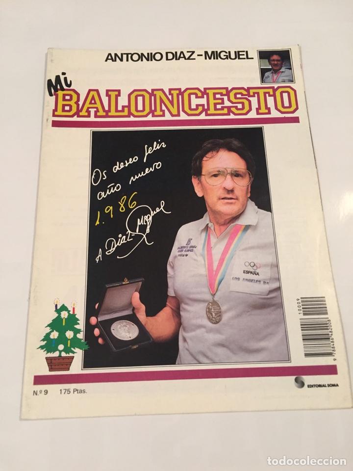 REVISTA 9 MI BALONCESTO ANTONIO DIAZ - MIGUEL (Coleccionismo Deportivo - Revistas y Periódicos - otros Deportes)