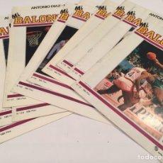 Coleccionismo deportivo: LOTAZO REVISTAS MI BALONCESTO ANTONIO DIAZ MIGUEL. Lote 63695370