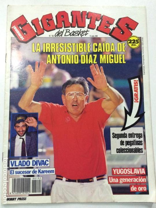 REVISTA GIGANTES DEL BASKET, NÚMERO 192, 10 JULIO 1989, PÓSTER VLADO DIVAC. (Coleccionismo Deportivo - Revistas y Periódicos - otros Deportes)