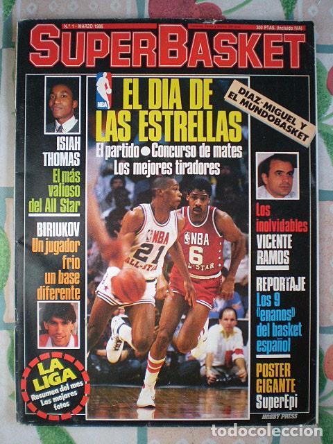 REVISTA SUPERBASKET SUPER BASKET Nº 1 (MARZO 1986) INCLUYE PÓSTER GIGANTE SUPEREPI SUPER EPI (Coleccionismo Deportivo - Revistas y Periódicos - otros Deportes)