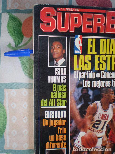 Coleccionismo deportivo: Revista Superbasket Super Basket nº 1 (marzo 1986) Incluye póster gigante SuperEpi Super Epi - Foto 3 - 65442526
