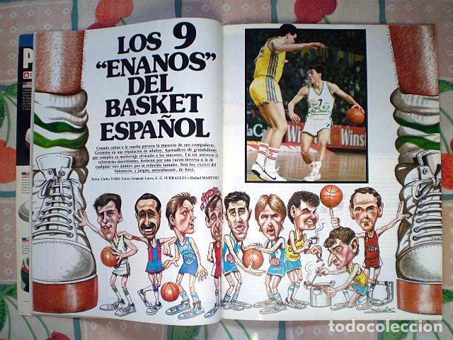 Coleccionismo deportivo: Revista Superbasket Super Basket nº 1 (marzo 1986) Incluye póster gigante SuperEpi Super Epi - Foto 5 - 65442526