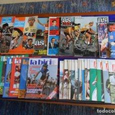 Coleccionismo deportivo: 38 REVISTA CICLISMO AÑOS 70 80 100 AÑOS LA BICI NUEVO DIARIO 16 AS COLOR VUELTA ESPAÑA 73 74 REGALOS. Lote 66220078
