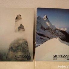 Collezionismo sportivo: 2 REVISTAS MUNTANYA - NUMEROS 713 Y 734 - AÑOS 1981 Y 1984 - REVISTA DE MONTAÑA EN CATALÁN. Lote 67069934