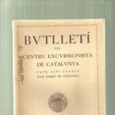 Coleccionismo deportivo: 1843.-DEL MOGENT AL PLA DE LA CALMA-BUTLLETI DEL CENTRE EXCURSIONISTA DE CATALUNYA ANY 1938 . Lote 67311005