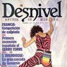 Coleccionismo deportivo: REVISTA DESNIVEL Nº 23. MAYO - JUNIO DE 1986. CERRO TORRE, L'OVERDOOSE DE GAVARNIE, JERÓNIMO LÓPEZ. Lote 68374933