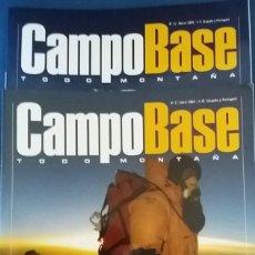 Coleccionismo deportivo: LOTE DE 2 REVISTAS CAMPO BASE. REVISTA DE MONTAÑA Nº 2 Y 13 . Lote 68548745