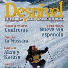 Coleccionismo deportivo: REVISTA DESNIVEL Nº 170 FEBRERO 2000. SHISHA PANGMA CONTRERAS, LA MUSSARA, PAMIR, EVEREST CON ESQUÍS. Lote 68959065