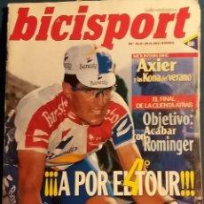 Coleccionismo deportivo: REVISTA BICISPORT Nº 63 JULIO 1994. GUIA COMPLETA PARA SEGUIR A INDURAIN. Lote 68959505
