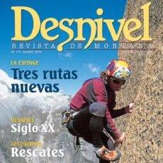 Coleccionismo deportivo: REVISTA DESNIVEL Nº 171 MARZO 2001. IBIZA, LA ESFINGE, VAL D'ISÈRE, MONTROIG. Lote 69128401