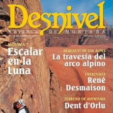 Coleccionismo deportivo: REVISTA DESNIVEL Nº 175 JULIO/AGOSTO 2001. JORDANIA: ESCALAR EN LA LUNA, DENT D'ORLU, PIC DE GARD. Lote 69129341