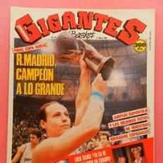Coleccionismo deportivo: REVISTA GIGANTES DEL BASKET Nº 124 1988 REAL MADRID CAMPEON COPA KORAC 87/88-CORBALAN-LOLO SAINZ. Lote 69986077