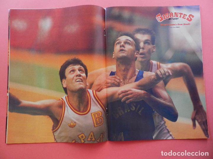 Coleccionismo deportivo: REVISTA GIGANTES DEL BASKET Nº 153 1988 POSTER GIGANTE MARGALL-URSS CAMPEON JJOO SEUL 88-PETROVIC - Foto 3 - 69986161