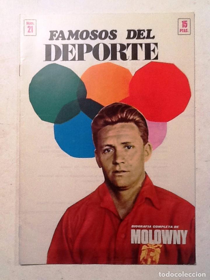 MOLOWNY FAMOSOS DEL DEPORTE NUM 21 (Coleccionismo Deportivo - Revistas y Periódicos - otros Deportes)