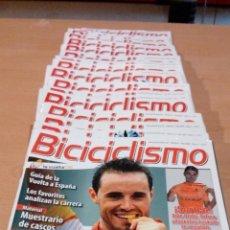 Coleccionismo deportivo: LOTE 19 REVISTAS BICICICLISMO, BUEN ESTADO LAS PRIMERAS QUE SALIERON EN 2008. Lote 71410459