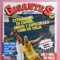 Coleccionismo deportivo: REVISTA GIGANTES DEL BASKET Nº 94 1987 POSTER GIGANTE RODNEY MCCRAY ROCKETS NBA-MARK EATON-ALLER. Lote 72027419