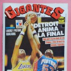 Coleccionismo deportivo: REVISTA GIGANTES DEL BASKET Nº 137 1988 POSTER DETROIT PISTONS-LAKERS FINAL NBA-PREOLIMPICO SEUL 88. Lote 72096147