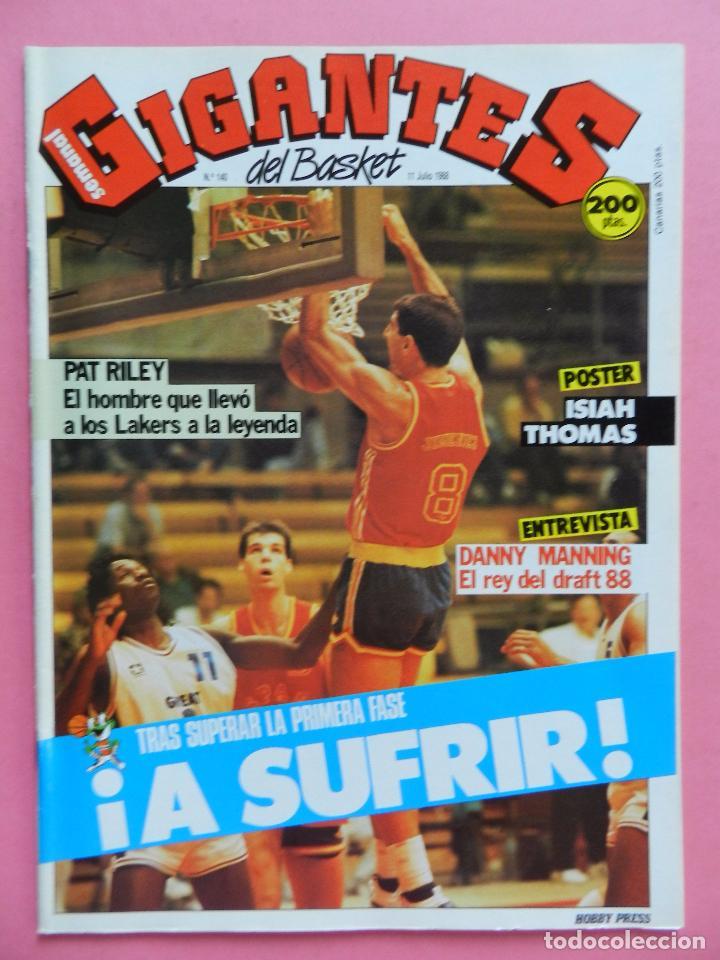 REVISTA GIGANTES DEL BASKET Nº 140 1988 POSTER ISIAH THOMAS PISTONS NBA 88-PAT RILEY-DANNY MANNING (Coleccionismo Deportivo - Revistas y Periódicos - otros Deportes)