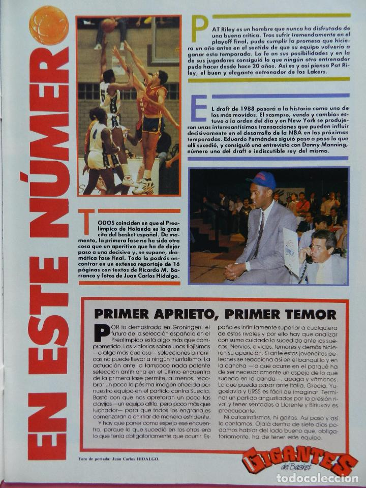 Coleccionismo deportivo: REVISTA GIGANTES DEL BASKET Nº 140 1988 POSTER ISIAH THOMAS PISTONS NBA 88-PAT RILEY-DANNY MANNING - Foto 2 - 72096455