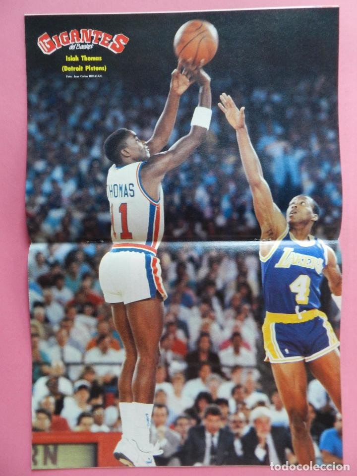 Coleccionismo deportivo: REVISTA GIGANTES DEL BASKET Nº 140 1988 POSTER ISIAH THOMAS PISTONS NBA 88-PAT RILEY-DANNY MANNING - Foto 3 - 72096455