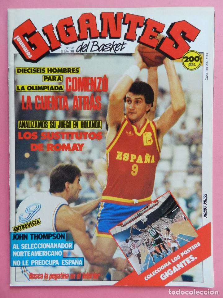 REVISTA GIGANTES DEL BASKET Nº 142 1988 POSTER GIGANTE PARISH CELTICS NBA-ROMAY-JJOO SEUL 88 (Coleccionismo Deportivo - Revistas y Periódicos - otros Deportes)