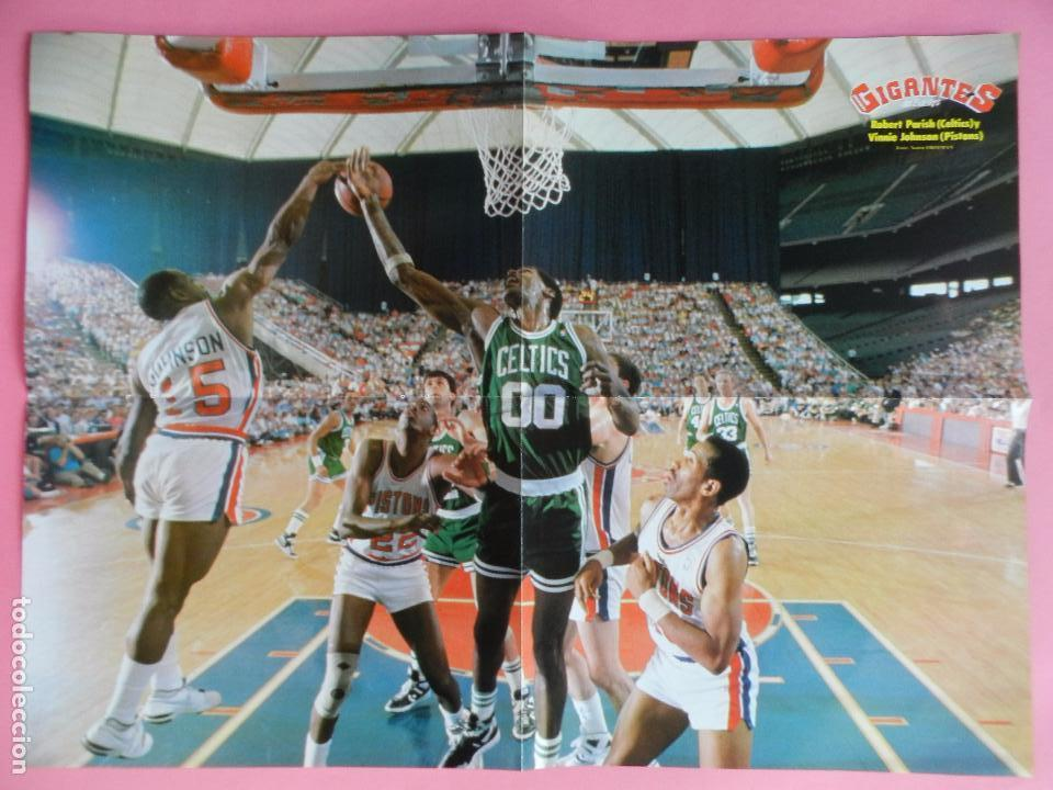Coleccionismo deportivo: REVISTA GIGANTES DEL BASKET Nº 142 1988 POSTER GIGANTE PARISH CELTICS NBA-ROMAY-JJOO SEUL 88 - Foto 3 - 72096639