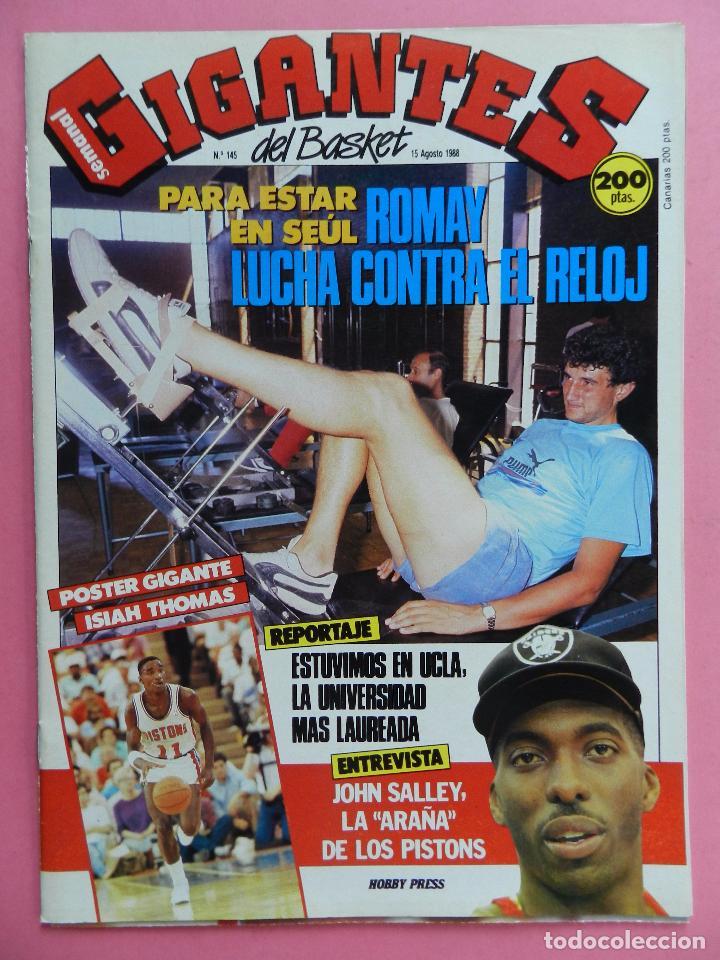 REVISTA GIGANTES DEL BASKET Nº 145 1988 POSTER GIGANTE ISIAH THOMAS PISTONS NBA-ROMAY-JOHN SALLEY (Coleccionismo Deportivo - Revistas y Periódicos - otros Deportes)