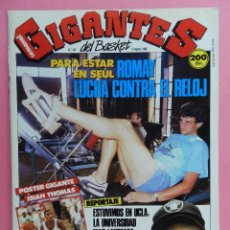 Coleccionismo deportivo: REVISTA GIGANTES DEL BASKET Nº 145 1988 POSTER GIGANTE ISIAH THOMAS PISTONS NBA-ROMAY-JOHN SALLEY. Lote 72096899