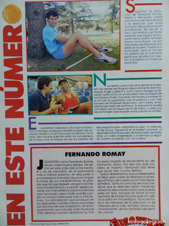 Coleccionismo deportivo: REVISTA GIGANTES DEL BASKET Nº 145 1988 POSTER GIGANTE ISIAH THOMAS PISTONS NBA-ROMAY-JOHN SALLEY - Foto 2 - 72096899