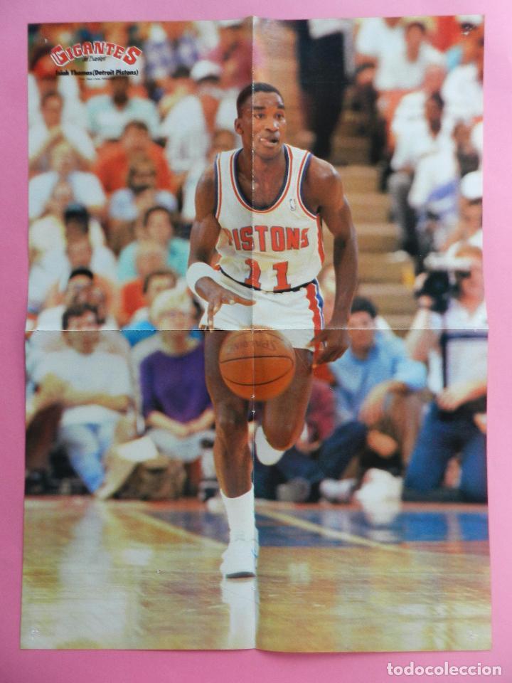 Coleccionismo deportivo: REVISTA GIGANTES DEL BASKET Nº 145 1988 POSTER GIGANTE ISIAH THOMAS PISTONS NBA-ROMAY-JOHN SALLEY - Foto 3 - 72096899