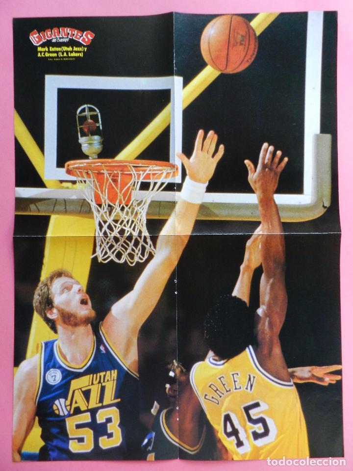 Coleccionismo deportivo: REVISTA GIGANTES DEL BASKET Nº 146 1988 POSTER GIGANTE EATON-AC GREEN NBA-JORDAN-ROMAY-ITURRIAGA - Foto 3 - 72101503