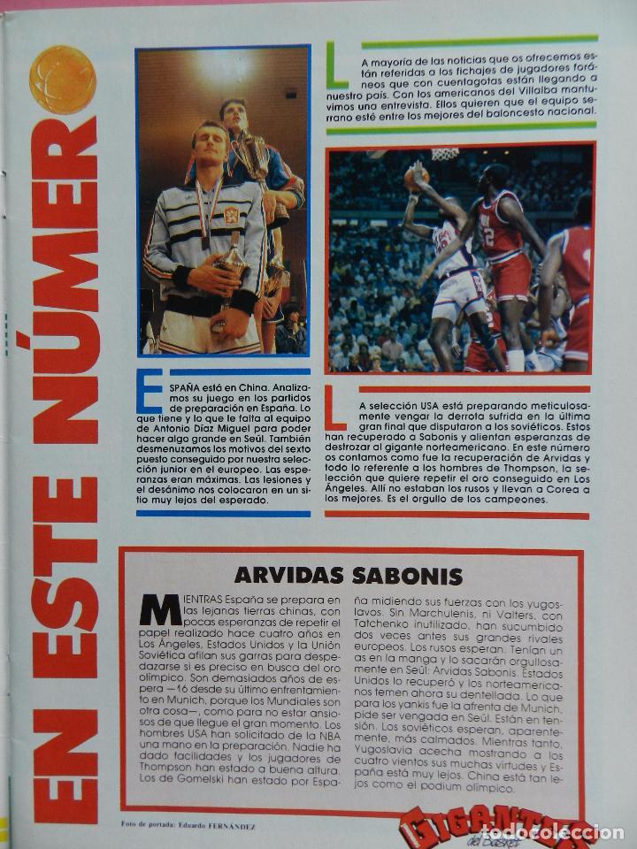 Coleccionismo deportivo: REVISTA GIGANTES DEL BASKET Nº 149 1988 POSTER GIGANTE LARRY BIRD CELTICS NBA-JJOO SEUL 88-SABONIS - Foto 2 - 72101983