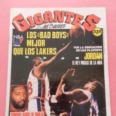 Coleccionismo deportivo: REVISTA GIGANTES DEL BASKET Nº 189 1989 POSTER MICHAEL JORDAN BULLS-FINAL NBA LAKERS PISTONS-SIBILIO. Lote 72111595