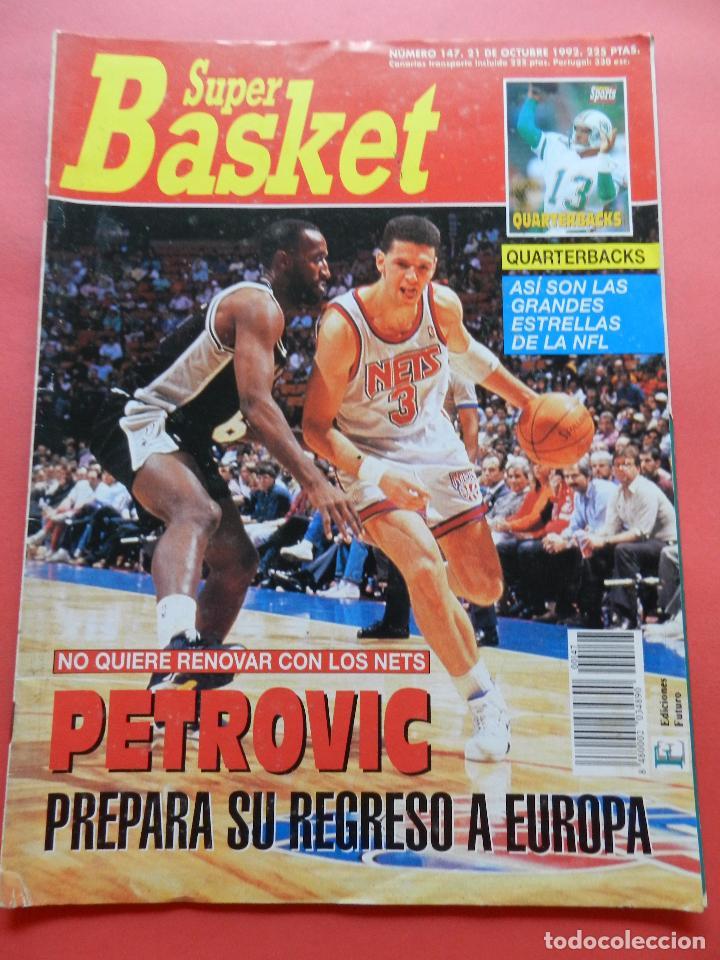 REVISTA SUPER BASKET Nº 147 1992 DRAZEN PETROVIC NETS-POSTER GS WARRIOSRS NBA-NFL-SUPERBASKET (Coleccionismo Deportivo - Revistas y Periódicos - otros Deportes)