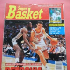Coleccionismo deportivo: REVISTA SUPER BASKET Nº 147 1992 DRAZEN PETROVIC NETS-POSTER GS WARRIOSRS NBA-NFL-SUPERBASKET. Lote 72190715