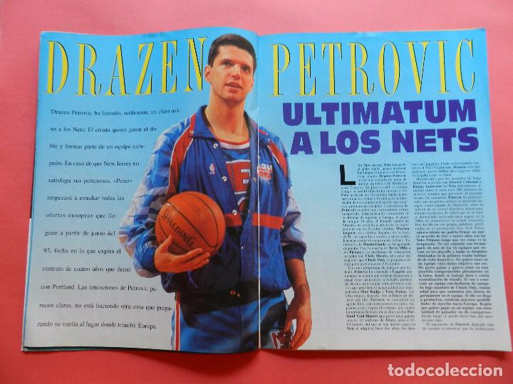 Coleccionismo deportivo: REVISTA SUPER BASKET Nº 147 1992 DRAZEN PETROVIC NETS-POSTER GS WARRIOSRS NBA-NFL-SUPERBASKET - Foto 3 - 72190715