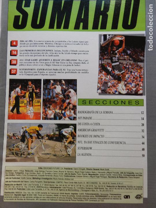 Coleccionismo deportivo: REVISTA SUPER BASKET Nº 111 1992 POSTER OLAJUWON ROCKETS-MICHAEL JORDAN BULLS NBA-SUPERBASKET - Foto 2 - 72210703