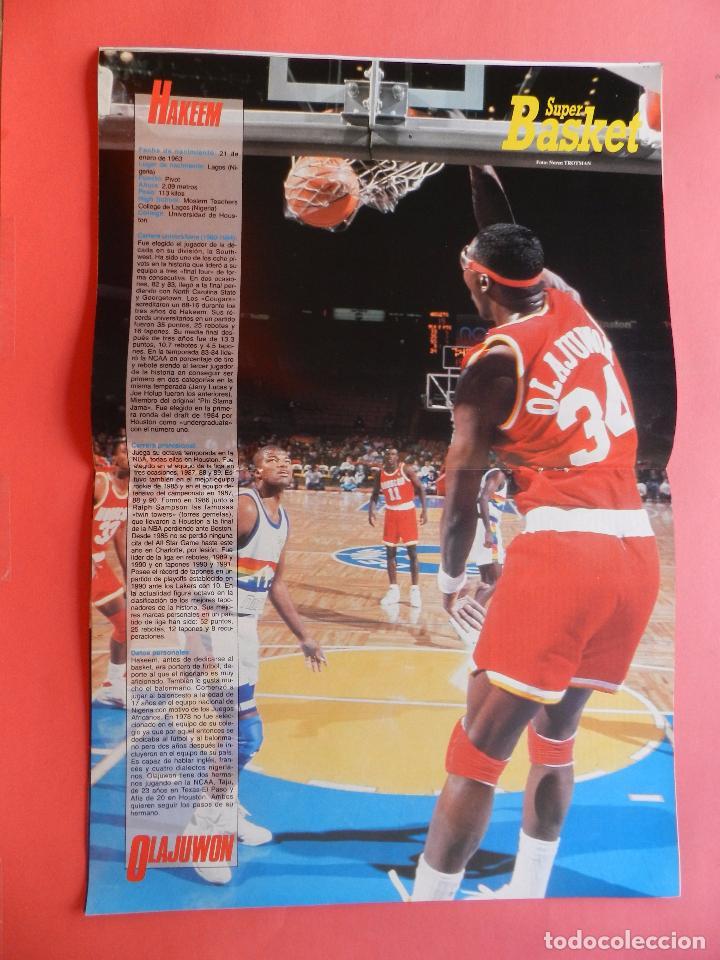 Coleccionismo deportivo: REVISTA SUPER BASKET Nº 111 1992 POSTER OLAJUWON ROCKETS-MICHAEL JORDAN BULLS NBA-SUPERBASKET - Foto 4 - 72210703