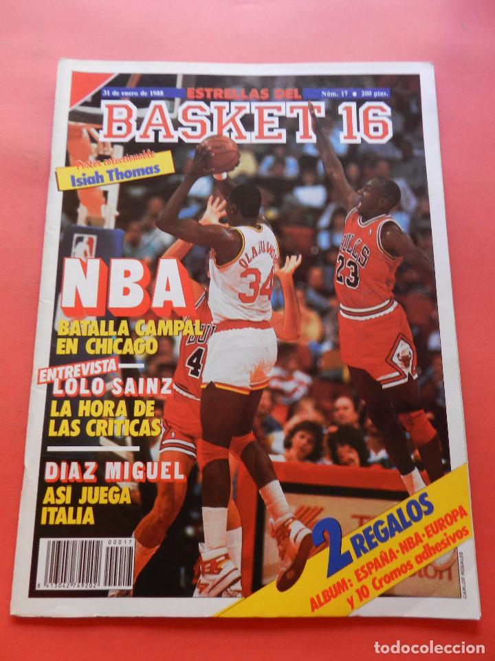 REVISTA Nº 17 ESTRELLAS DEL BASKET 16 1988 POSTER ISIAH THOMAS PISTONS NBA-JORDAN-DIAZ MIGUEL-SAINZ (Coleccionismo Deportivo - Revistas y Periódicos - otros Deportes)
