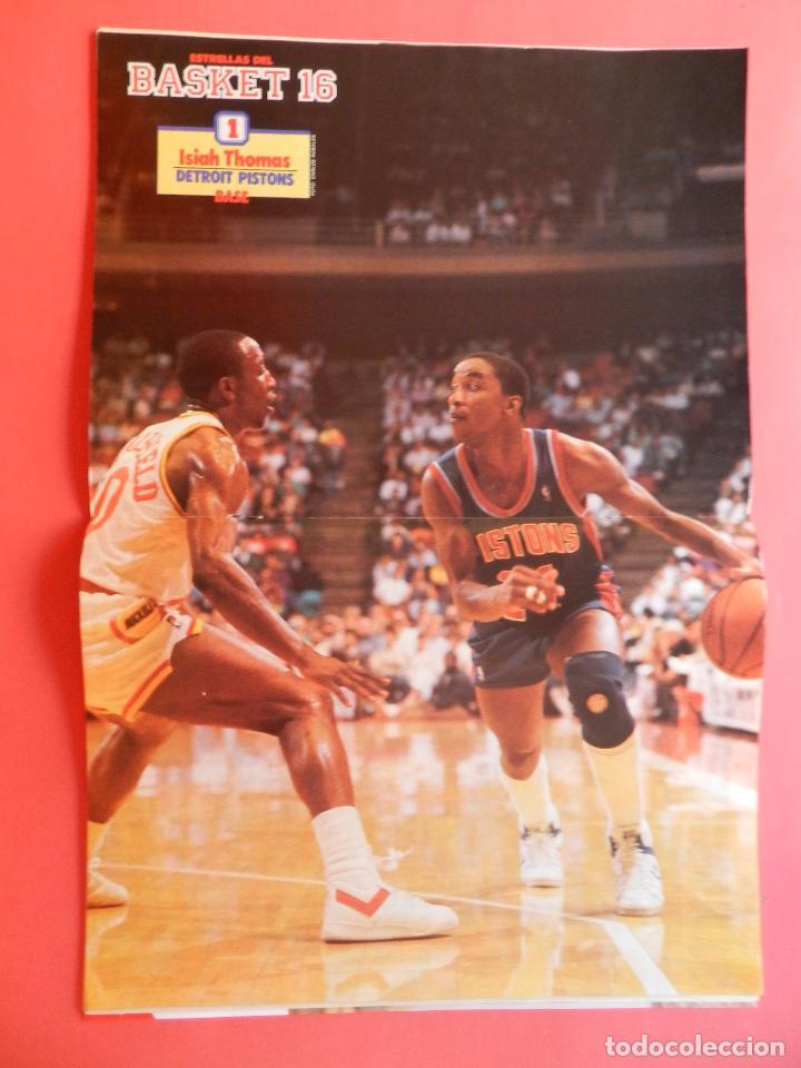 Coleccionismo deportivo: REVISTA Nº 17 ESTRELLAS DEL BASKET 16 1988 POSTER ISIAH THOMAS PISTONS NBA-JORDAN-DIAZ MIGUEL-SAINZ - Foto 4 - 72215711