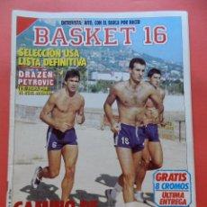 Coleccionismo deportivo: REVISTA Nº 49 ESTRELLAS DEL BASKET 16 1988 DRAZEN PETROVIC-JJOO SEUL 88-POSTER MARK AGUIRRE MAVS. Lote 72215807