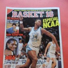 Coleccionismo deportivo: REVISTA Nº 61 ESTRELLAS DEL BASKET 16 1988 ESPECIAL NCAA-PETROVIC PORTLAND NBA-ALONZO MOURNING. Lote 72216215
