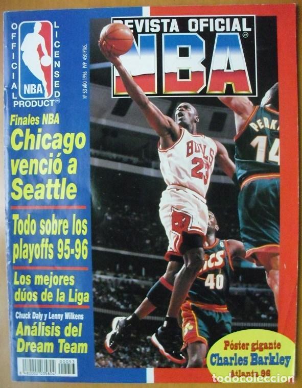 MICHAEL JORDAN & CHICAGO BULLS - ''REVISTA OFICIAL DE LA NBA'' - CUARTO ANILLO (1996) (Coleccionismo Deportivo - Revistas y Periódicos - otros Deportes)
