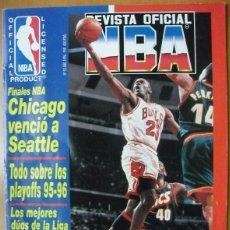 Coleccionismo deportivo: MICHAEL JORDAN & CHICAGO BULLS - ''REVISTA OFICIAL DE LA NBA'' - CUARTO ANILLO (1996). Lote 75846275