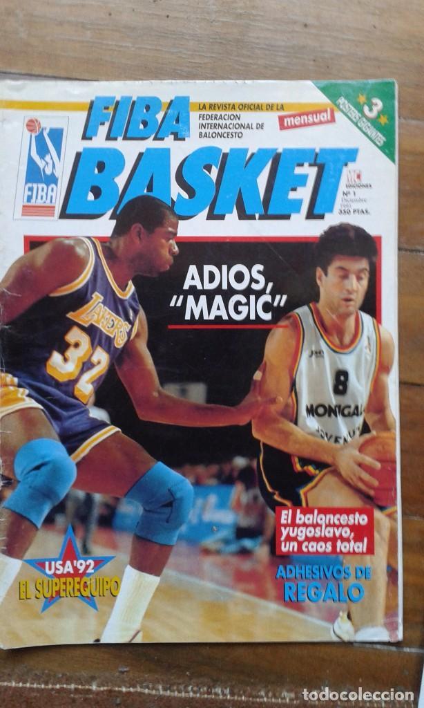 REVISTA DE BALONCESTO FIBA BASKET Nº 1. 1ª ÉPOCA. DICIEMBRE 1991 (Coleccionismo Deportivo - Revistas y Periódicos - otros Deportes)